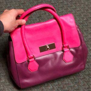 Kate Spade pink purple satchel bag